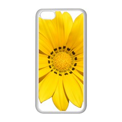 Transparent Flower Summer Yellow Apple Iphone 5c Seamless Case (white) by Simbadda