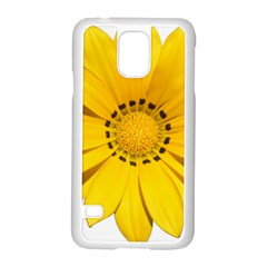 Transparent Flower Summer Yellow Samsung Galaxy S5 Case (white) by Simbadda