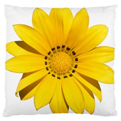 Transparent Flower Summer Yellow Large Flano Cushion Case (two Sides) by Simbadda