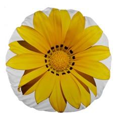 Transparent Flower Summer Yellow Large 18  Premium Flano Round Cushions by Simbadda