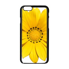 Transparent Flower Summer Yellow Apple Iphone 6/6s Black Enamel Case by Simbadda