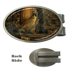 Woman Lost Model Alone Money Clips (oval)  by Simbadda