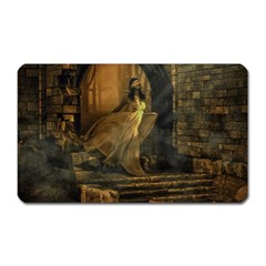 Woman Lost Model Alone Magnet (rectangular) by Simbadda