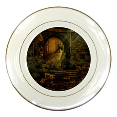 Woman Lost Model Alone Porcelain Plates by Simbadda