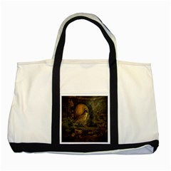 Woman Lost Model Alone Two Tone Tote Bag