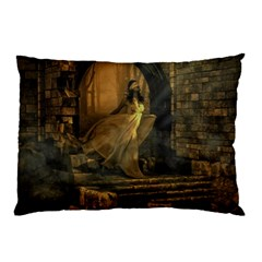 Woman Lost Model Alone Pillow Case by Simbadda
