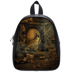 Woman Lost Model Alone School Bags (small)  by Simbadda