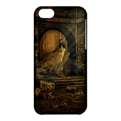 Woman Lost Model Alone Apple Iphone 5c Hardshell Case by Simbadda