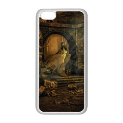Woman Lost Model Alone Apple Iphone 5c Seamless Case (white) by Simbadda