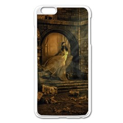 Woman Lost Model Alone Apple Iphone 6 Plus/6s Plus Enamel White Case by Simbadda