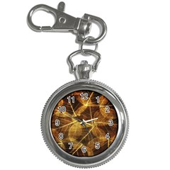 Leaves Autumn Texture Brown Key Chain Watches by Simbadda