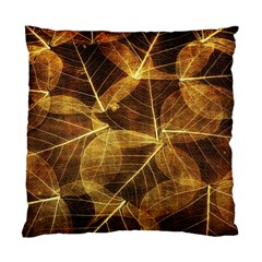 Leaves Autumn Texture Brown Standard Cushion Case (one Side) by Simbadda
