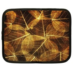 Leaves Autumn Texture Brown Netbook Case (xl)  by Simbadda