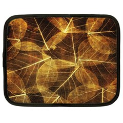 Leaves Autumn Texture Brown Netbook Case (xxl)  by Simbadda