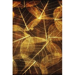 Leaves Autumn Texture Brown 5 5  X 8 5  Notebooks by Simbadda