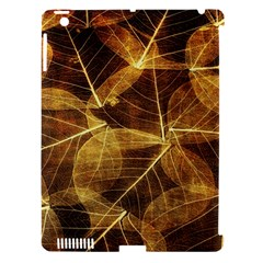 Leaves Autumn Texture Brown Apple Ipad 3/4 Hardshell Case (compatible With Smart Cover) by Simbadda