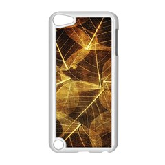 Leaves Autumn Texture Brown Apple Ipod Touch 5 Case (white) by Simbadda