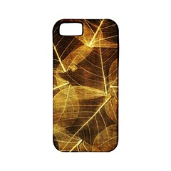 Leaves Autumn Texture Brown Apple Iphone 5 Classic Hardshell Case (pc+silicone) by Simbadda