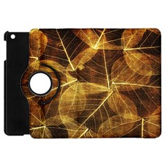 Leaves Autumn Texture Brown Apple Ipad Mini Flip 360 Case by Simbadda