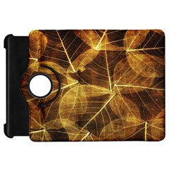 Leaves Autumn Texture Brown Kindle Fire Hd 7  by Simbadda