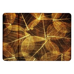 Leaves Autumn Texture Brown Samsung Galaxy Tab 8 9  P7300 Flip Case by Simbadda