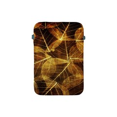 Leaves Autumn Texture Brown Apple Ipad Mini Protective Soft Cases by Simbadda