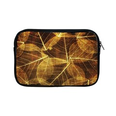 Leaves Autumn Texture Brown Apple Ipad Mini Zipper Cases by Simbadda