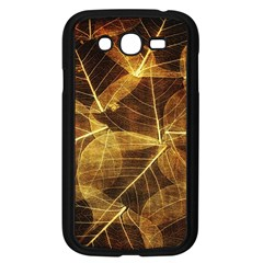 Leaves Autumn Texture Brown Samsung Galaxy Grand Duos I9082 Case (black) by Simbadda