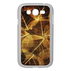 Leaves Autumn Texture Brown Samsung Galaxy Grand Duos I9082 Case (white) by Simbadda