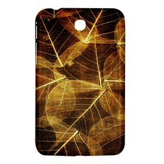 Leaves Autumn Texture Brown Samsung Galaxy Tab 3 (7 ) P3200 Hardshell Case  by Simbadda