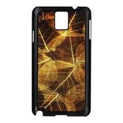 Leaves Autumn Texture Brown Samsung Galaxy Note 3 N9005 Case (black) by Simbadda