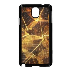 Leaves Autumn Texture Brown Samsung Galaxy Note 3 Neo Hardshell Case (black) by Simbadda