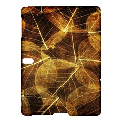 Leaves Autumn Texture Brown Samsung Galaxy Tab S (10 5 ) Hardshell Case  by Simbadda