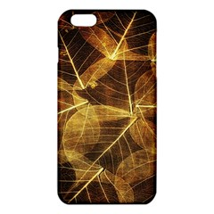 Leaves Autumn Texture Brown Iphone 6 Plus/6s Plus Tpu Case by Simbadda