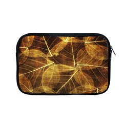 Leaves Autumn Texture Brown Apple Macbook Pro 13  Zipper Case by Simbadda
