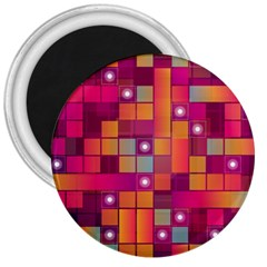 Abstract Background Colorful 3  Magnets by Onesevenart