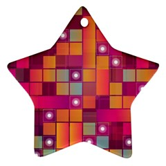 Abstract Background Colorful Ornament (Star)