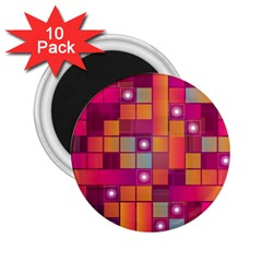 Abstract Background Colorful 2 25  Magnets (10 Pack)  by Onesevenart