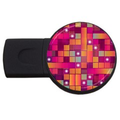 Abstract Background Colorful Usb Flash Drive Round (2 Gb) by Onesevenart