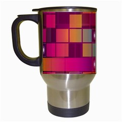 Abstract Background Colorful Travel Mugs (white) by Onesevenart