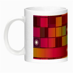 Abstract Background Colorful Night Luminous Mugs by Onesevenart