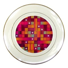 Abstract Background Colorful Porcelain Plates by Onesevenart