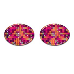 Abstract Background Colorful Cufflinks (oval) by Onesevenart