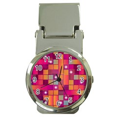 Abstract Background Colorful Money Clip Watches by Onesevenart