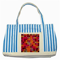 Abstract Background Colorful Striped Blue Tote Bag by Onesevenart