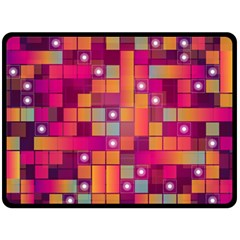 Abstract Background Colorful Fleece Blanket (large)  by Onesevenart