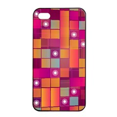 Abstract Background Colorful Apple Iphone 4/4s Seamless Case (black) by Onesevenart