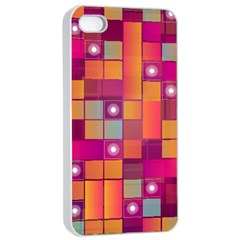 Abstract Background Colorful Apple Iphone 4/4s Seamless Case (white) by Onesevenart