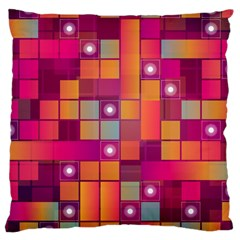 Abstract Background Colorful Large Cushion Case (one Side) by Onesevenart