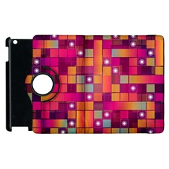 Abstract Background Colorful Apple Ipad 2 Flip 360 Case by Onesevenart